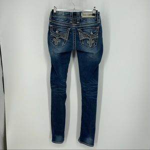 Rock Revival Avery Straight Bling Jeans Size 24